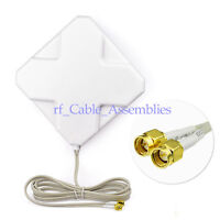 4G LTE Broadband Dual SMA Connector Antenna Signal Amplifier For Mobile Router