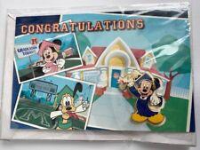 DLR Cast Exclusive Graduation Congratulations Mickey Mouse Disney Pin LE (B)
