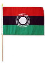 "12x18 12""x18"" Wholesale Lot of 3 Malawi 2010 - 2012 Stick Flag wood staff"
