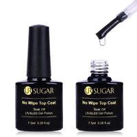 2Pcs 7.5ml Nail No Wipe Top Coat UV & LED Gel Polish Varnish Soak Off UR SUGAR