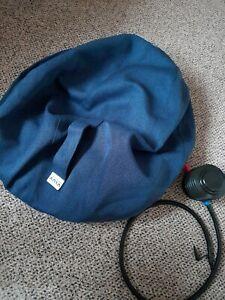 VLUV exercise seat ball       70 -75cm BLUE. fabric