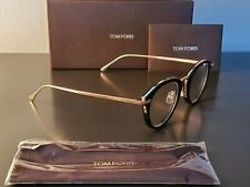 Tom Ford TF5497 001 Eyeglases Black Rose Gold 48mm New Authentic
