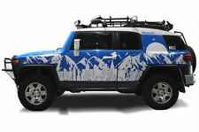 Custom Vinyl Decal Los Desert Wrap for Toyota FJ Cruiser 2007-2014 Matte White