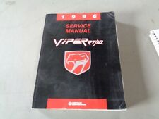 Vintage 1996 Dodge Viper Service Manual Book Repair All sections RT/10