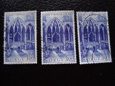 NORVEGE - timbre yvert et tellier n° 825 x3 obl (A30) stamp norway