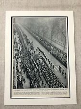 1952 Print Piccadilly London King George IV Funeral British Royal Family Vintage