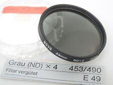 HOYA 49mm Grau Filter (ND) x4 ND x4 Neutraldichte-Filter E49 49 mm TOP mint + ca