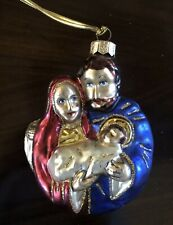 Glass Ornament Holy Family Nativity Poland Christmas
