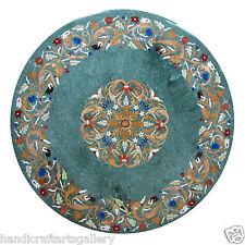 4'x4' Marble Dining Coffee Table Top Pietradure Mosaic Inlay Art Decor Furniture