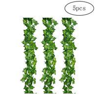5pcs/set Artificial Creeper Leaves Vine Hanging Plant Large Leaves Garland Decor