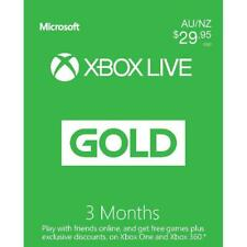Microsoft Xbox Live Gold 3 Month Membership Subscription, Australia region only