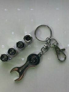 Dodge Valve Stem Caps With Wrench Keychain