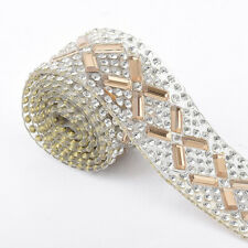 40cm New Bling Crystal Rhinestone Ribbon Wedding Dress Crafts Sewing Decor Trims