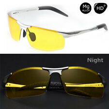 Aluminum Magnesium Men's Night Vision Mirror Polarized Driving Glasses Yellow