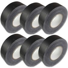 "6-Pack Hosa Gaffer's Tape 2"" Roll 60 Yards Per Roll Matte Black Gaffers Gaff"