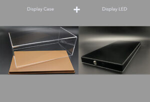 Display case show case with leather base for 1:18 BBR MR Autoart Car model