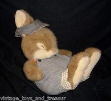 "12"" VINTAGE CREATIVE CONCEPTS BROWN BABY BUNNY RABBIT STUFFED ANIMAL PLUSH TOY"