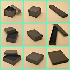 12 x  Black Printed Kraft Paper Gift Boxes - Jewellery Gift Boxes Wholesale