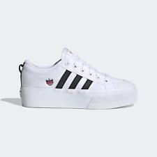 adidas Originals Womens Nizza A fashion-ready platform trainer white