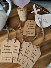 Vintage Wedding Favour Tags / Thank You Tags / Favour Tags / Personalised (x20)