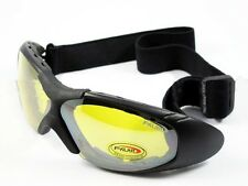 Cycling Airsoft Sport Wind Dust Goggles Glasses Yellow