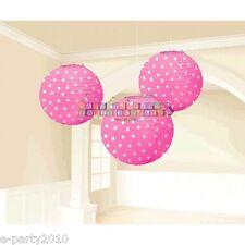 PINK POLKA DOT PAPER LANTERNS (3) ~ Birthday Party Supplies Decorations Baby