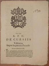 SENTENZA SACRA ROTA VELLETRI LAZIO PAOLO CENSI DOMENICO GALEAZZI 1834 VENDITA