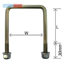 Square U Bolt 70 mm x 76 mm high tensile with locking nuts and washers