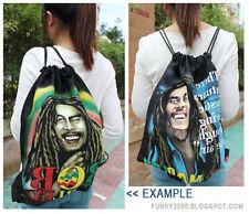 shoulder BAG - Bob Marley design printed both side, Sling drawstring funky style