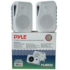 PAIR OF SPEAKERS PYLE PLMR25 21 CM 300 WATTS DJ DISC HOLIDAYS PARTY RESISTANT