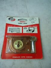 """Corbin """"Ideal"""" Chest Lock K34 Complete With Screws Directions On Back"""