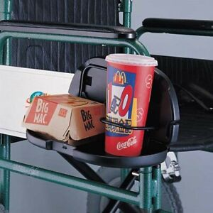 Double Cup Holder Wheelchair Mobility Accessory