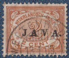 DUTCH INDIES  1908  JAVA  On 2 Cent   Good  Used    (P19)