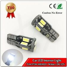 50x T10 5630 10SMD Canbus Error Free W5W 168 LED Bulbs Side Parking Light White