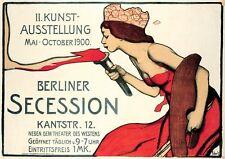 Berliner Secession Kunstausstellung 1900 Plakat von Wilhelm Schulz Faksimile 20