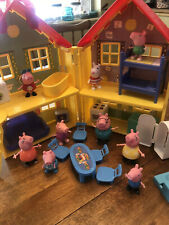 Peppa Pig Lot Playhouse, Car, Treehouse, 9 Figures, 15 Other Asst. Accessories