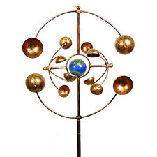 Outdoor Kinetic Wind Spinner Stake Garden Sculpture Display Decor Art 16x7x48in