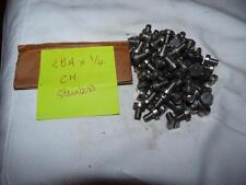 2 BA X 1/4 CHEESE HEAD  SCREWS X 16  - STAINLESS STEEL