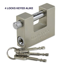 HEAVY DUTY STEEL CONTAINER PADLOCK 70MM WTH 9 KEYS (KEYED ALIKE) 4 LOCKS
