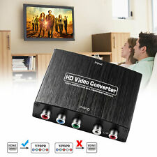 HDMI to 5RCA RGB 4K Component YPbPr Video & R/L Audio Adapter Converter HD TV US
