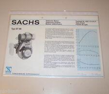 Typenblatt / Technische Daten Sachs Stationär Motor ST 96 - Stand 1980!