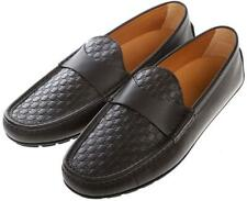 NEW GUCCI MEN'S BROWN MICROGUCCISSIMA LEATHER MOCCASINS DRIVER SHOES 11/US 11.5