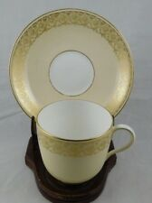 Vintage Cauldon England Brown Westhead Moore Gold Demi TeaCup & Saucer