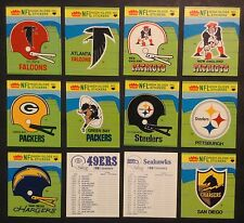 1981 Fleer Football Team Action Stickers Complete Set of 56-With No variations