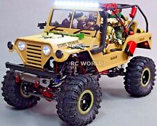 Custom AXIAL SCX10 Metal JEEP WARRIOR U.S.M.C  2.2 Crawler Brushless 11.1V *RTR*