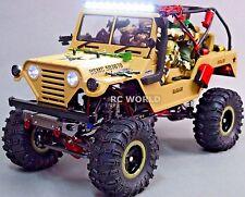 Custom AXIAL SCX10 Metal JEEP WARRIOR U.S.M.C  2.2 Crawler Brushless 11.1V *RTR*