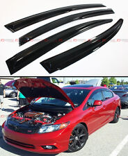 2012-15 9TH GEN CIVIC FB SI SEDAN 3D MUGEN STYLE SMOKED WINDOW VISOR VENT SHADE