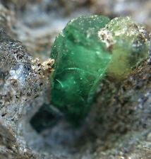 SMARAGDSTUFE Österreich Habachtal Smaragd Kristall Stufe Matrix Glimmerschiefer