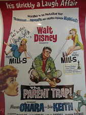 HAYLEY MILLS - The Parent Trap PERSONALMENTE FIRMADO 16x12