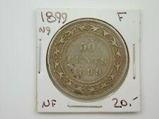 1899 N9 New Foundland 50 Cents Coin F